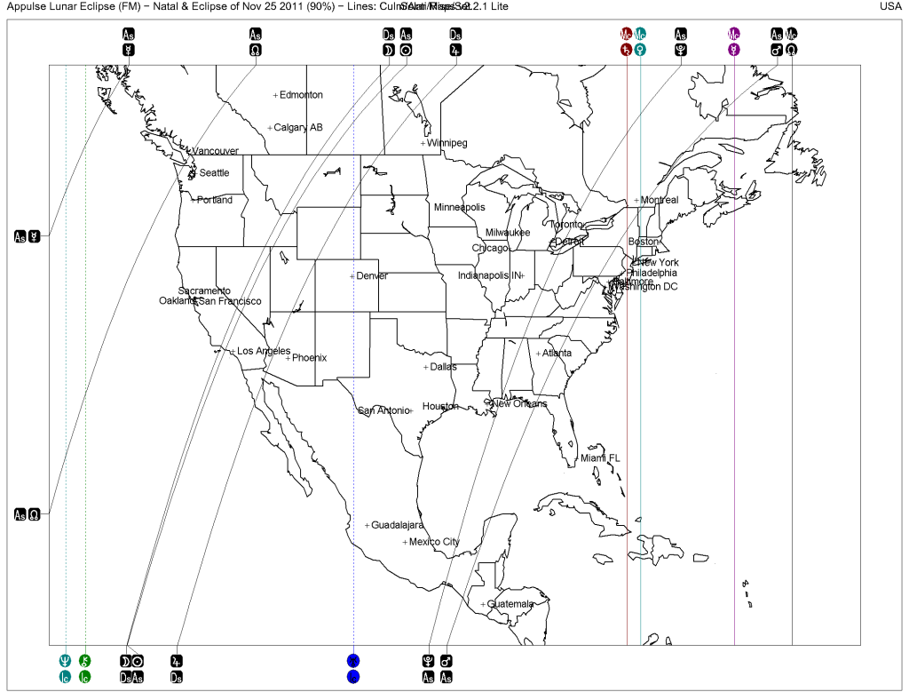 Solar Maps v1 Map of U.S. at time of Full Moon on November 28, 2012