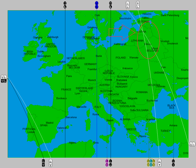 2014-10 Eclipse Map (UK and Europe)