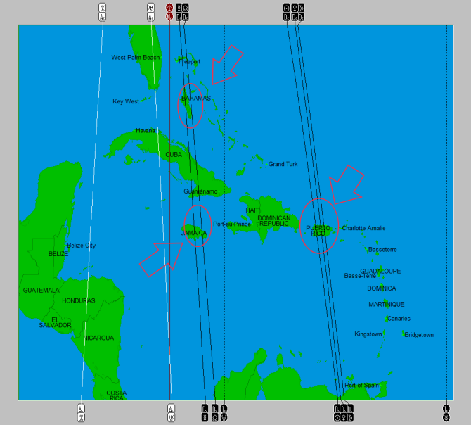 2014-10 Eclipse Map (West Indies)