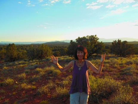 Tara at blood moon elcipse watch site sedona