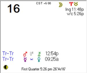2016-01-16 Daily Calendar