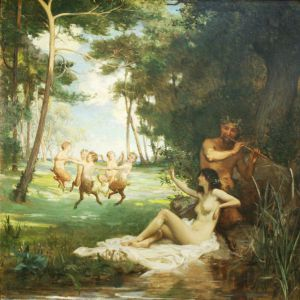 Pan and the Nymph 1896 Percy Jacomb Hood