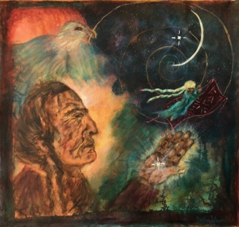 """""""A VERY OLD MAN FACING A VAST DARK SPACE TO THE NORTHEAST"""" BY WISE OWL CHRISTINE"""