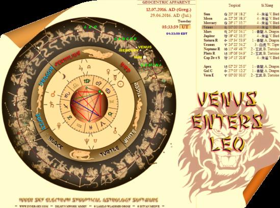 Venus ingress Leo