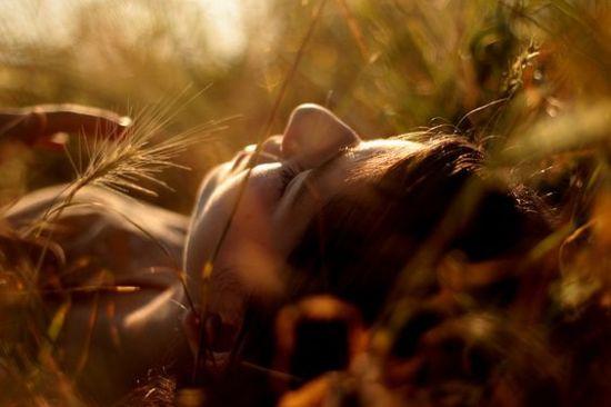 lying grass